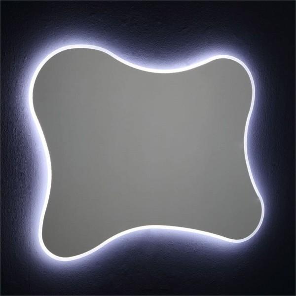 Specchio sagomato 100x75 cm reversibile retroilluminato con led