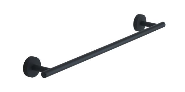 Portasalviette eros nero opaco cm 45 in acciaio inox e cromall