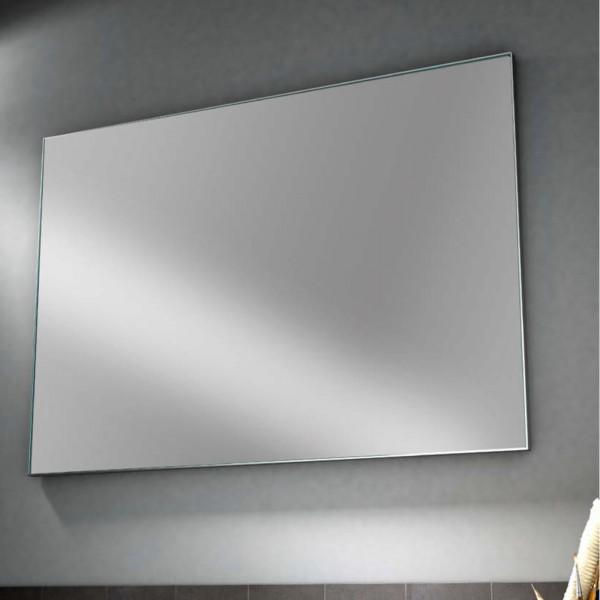 Specchio 60x80 cm con cornice in alluminio spazzolato