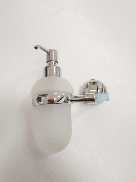 Dispenser sapone a muro cromo azzurro capannoli