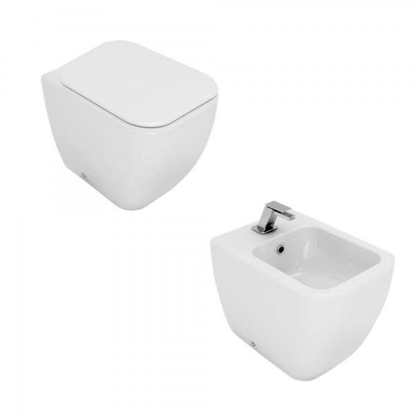 Sanitari filomuro opera sanitari area in ceramica bianchi con copriwc slim soft close