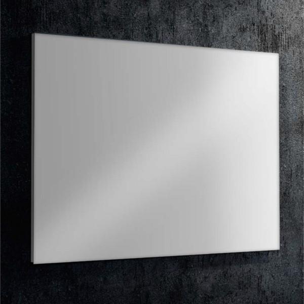Specchio 100x70 cm con telaio perimetrale in pvc estruso grigio