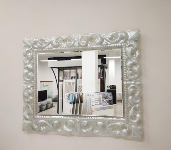 Specchio con profilo decorato argento