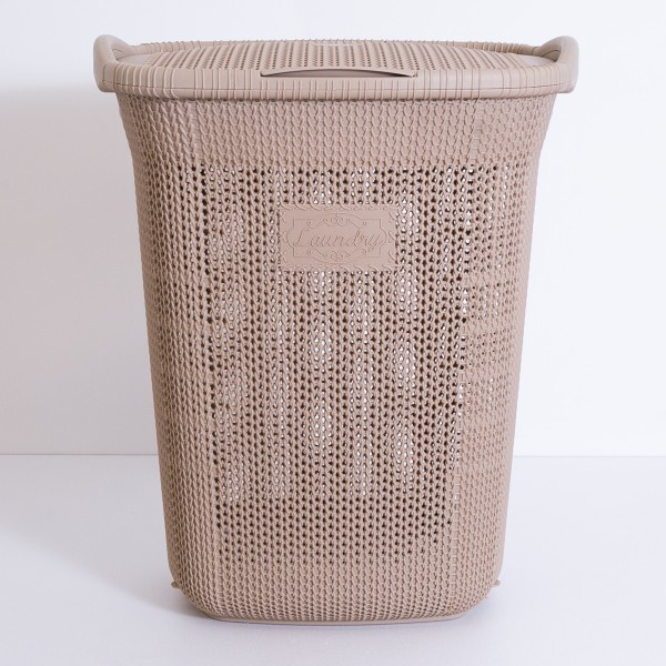 Porta biancheria in plastica tortora 65 lt