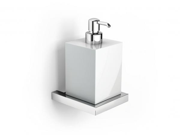 Dispenser sapone a muro in ceramica e acciaio inox ibb