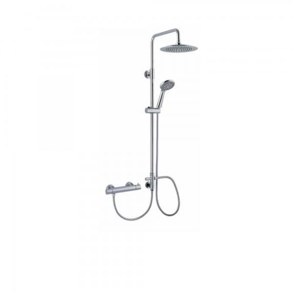 Colonna doccia con deviatore e soffione tondo diam.20 cm