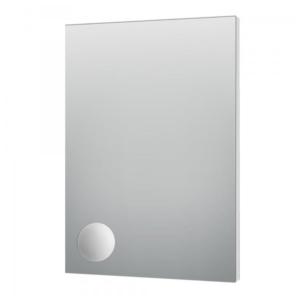 Specchio 60x80 cm con telaio perimetrale in pvc e specchio ingranditore