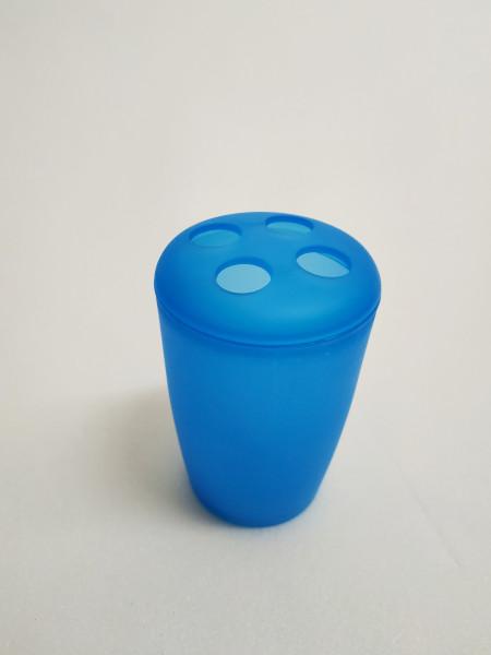 Portaspazzolino d'appoggio blu in plastica