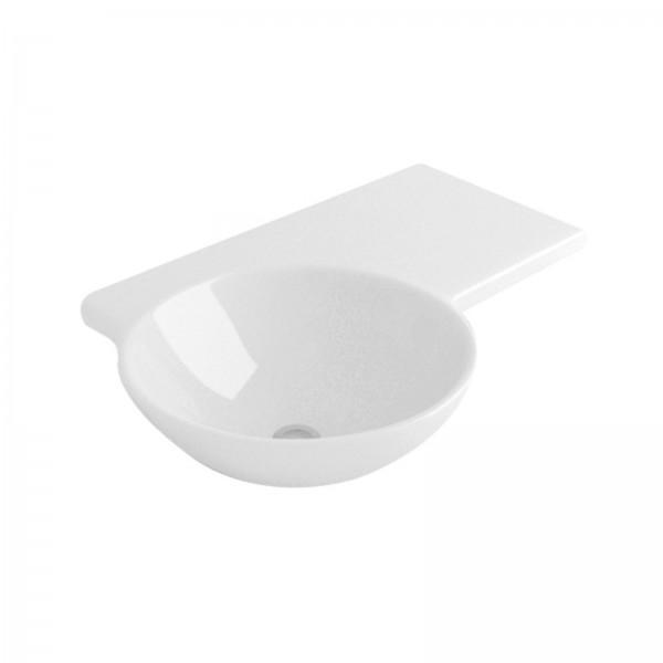 Lavabo sospeso 68 cm opera sanitari simply in ceramica bianco con appoggio a destra
