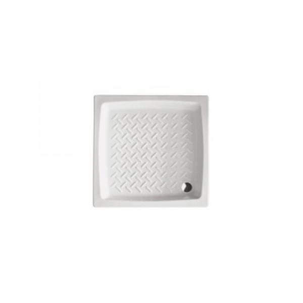 Piatto doccia 80x80 cm opera sanitari sp.8 cm in ceramica bianco