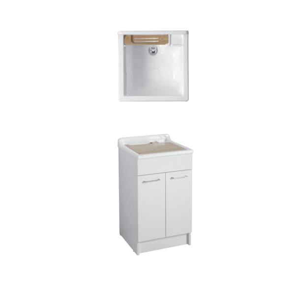 Lavatoio colavene swash bianco 60x60x87 cm con vasca in abs