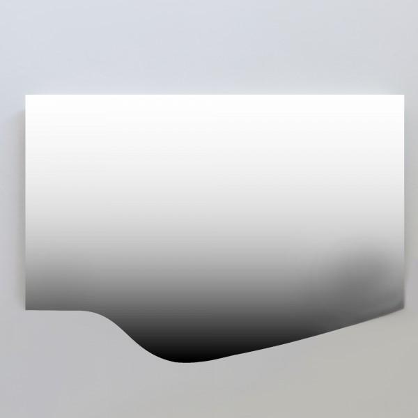 Specchio led 80x55 cm con telaio in mdf