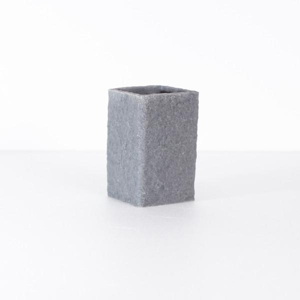 Portaspazzolino in poliresina grigio