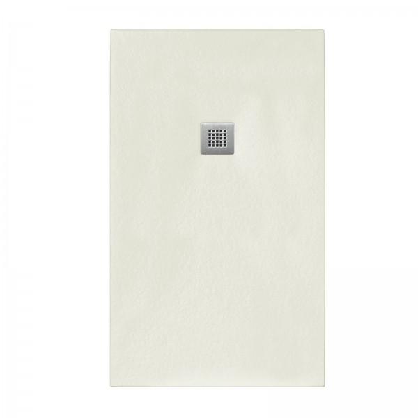 Piatto doccia beige 80x100 in mineral marmo sp 3cm con piletta inclusa