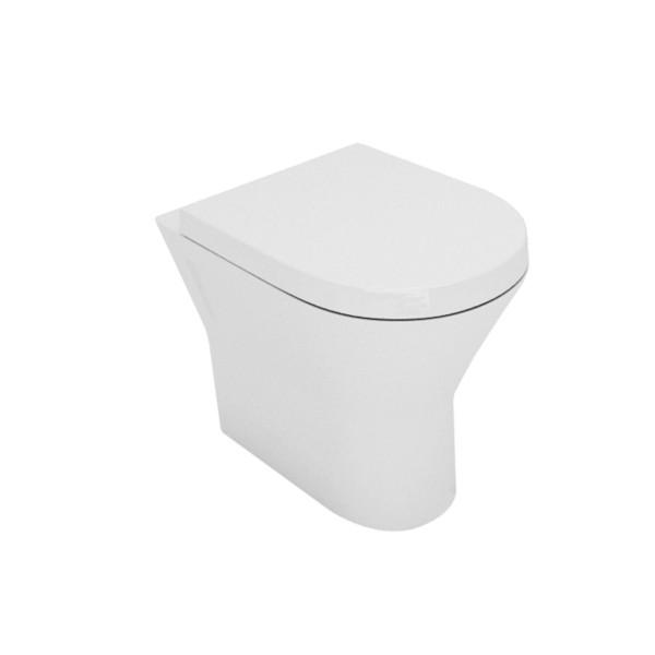 Vaso filomuro bianco opera sanitari laguna in ceramica con copriwc avvolgente soft close