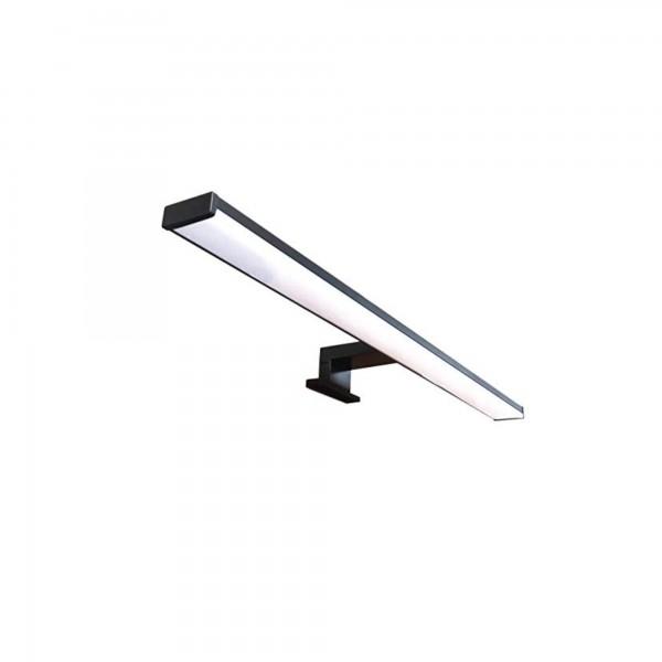 Lampada led da 40 cm a luce naturale in alluminio nero opaco con attacco a morsetto o a viti
