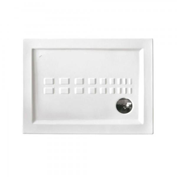 Piatto doccia althea ito 80x80 sp.5,5 cm in ceramica bianco