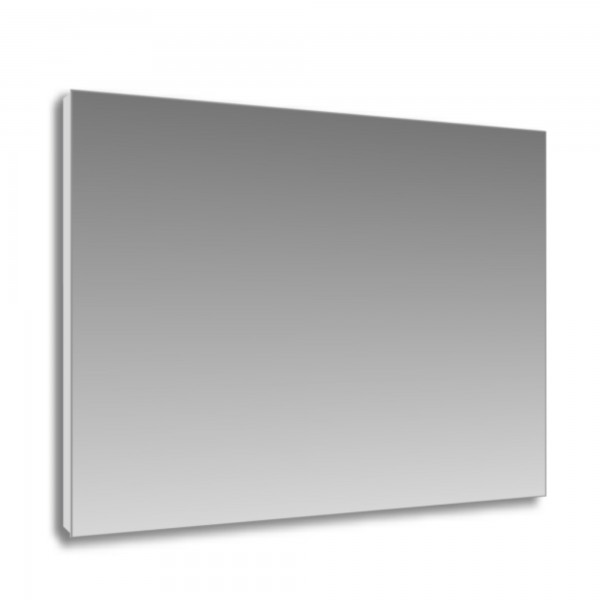 Specchio 120x70 cm con telaio perimetrale in pvc estruso grigio