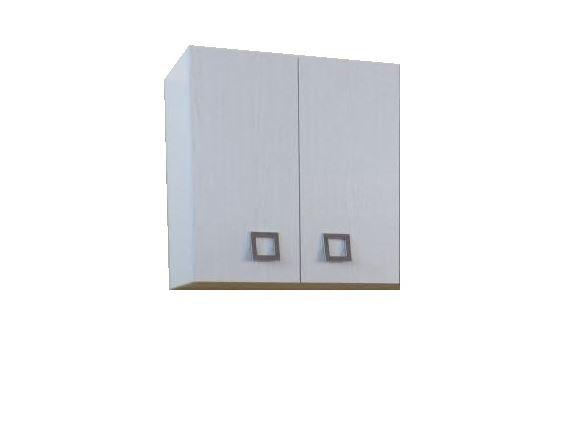 Pensile bianco lucido da cucina 70x60 cm a due ante