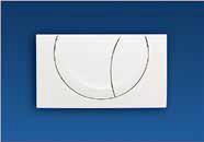 Placca di scarico bianca nicoll a due tasti