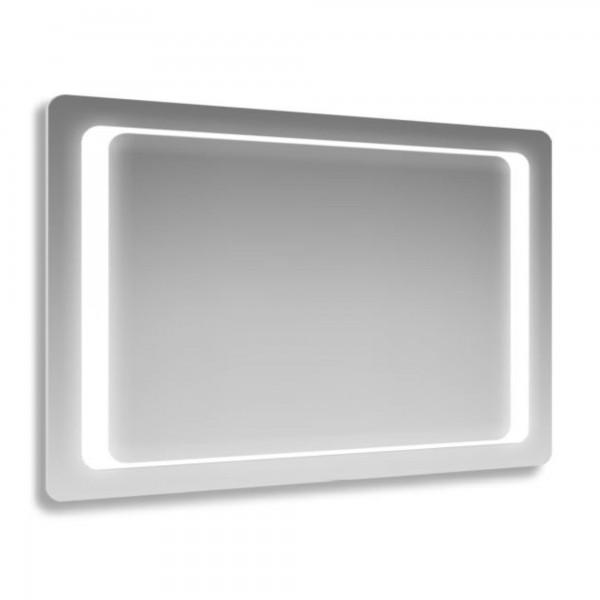 Specchio 60x80 cm con angoli arrotondati e cornice led