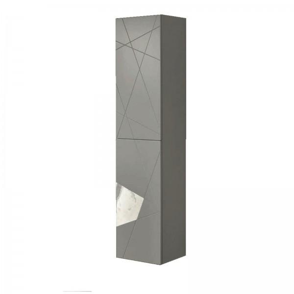 Colonna sospesa crizia 35x160 bicolor grigio opaco e marmo bianco