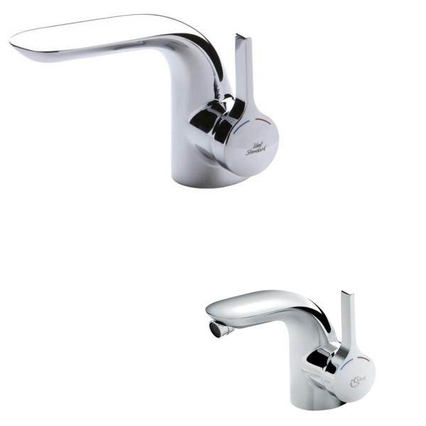 Set miscelatori bagno lavabo e bidet ideal standard melange con scarico tradizionale in ottone