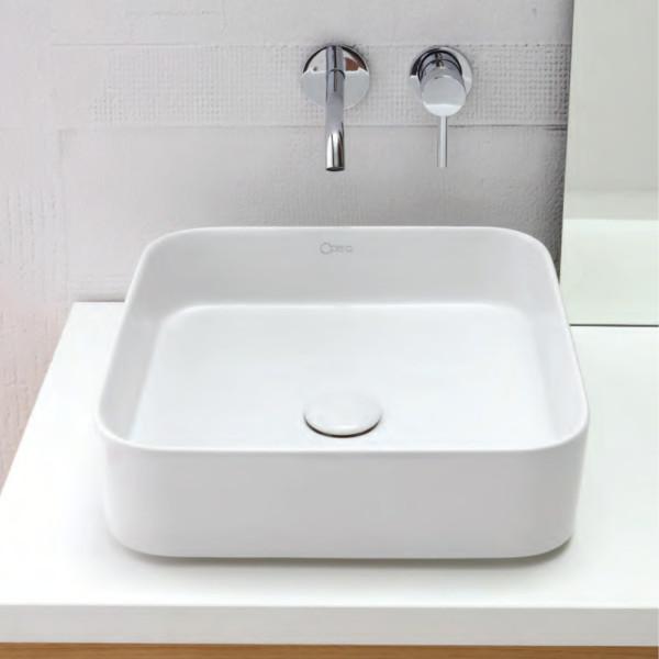 Lavabo da appoggio lama da 40 cm in ceramica bianco