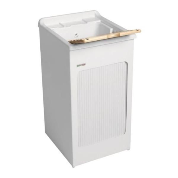 Lavatoio colavene lavacril bianco 45x50 cm con serranda laterale e vasca in abs