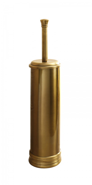 Portascopino bronzo d'appoggio in acciaio inox con ciuffo in setole