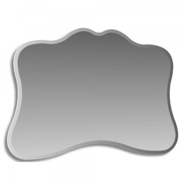 Specchio filo lucido sagomato 100x70 cm con cornice satinata