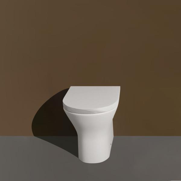 Vaso filomuro opera laguna senza brida in ceramica bianco opaco con copriwc avvolgente