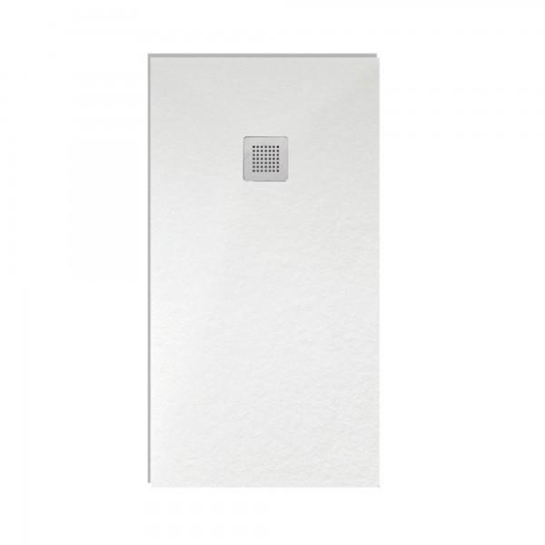 Piatto doccia althea london 80x100 sp.3 cm in mineral marmo bianco