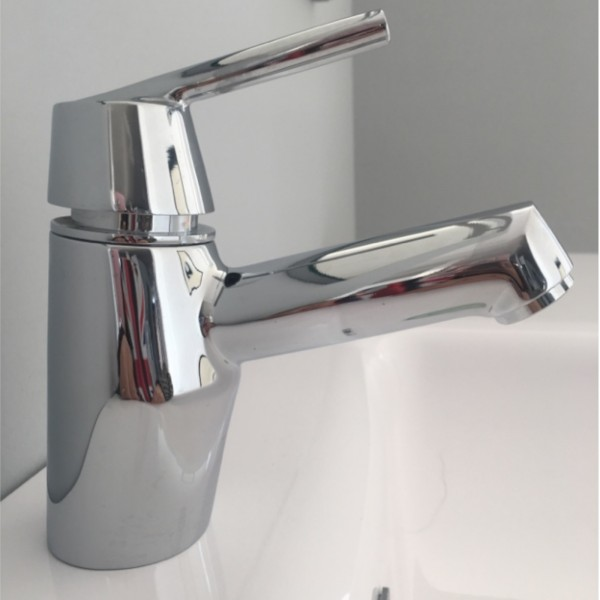 Miscelatore monocomando lavabo treemme thekno cromo con scarico tradizionale
