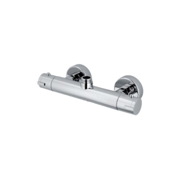Miscelatore termostatico doccia con attacco superiore centrale per colonna