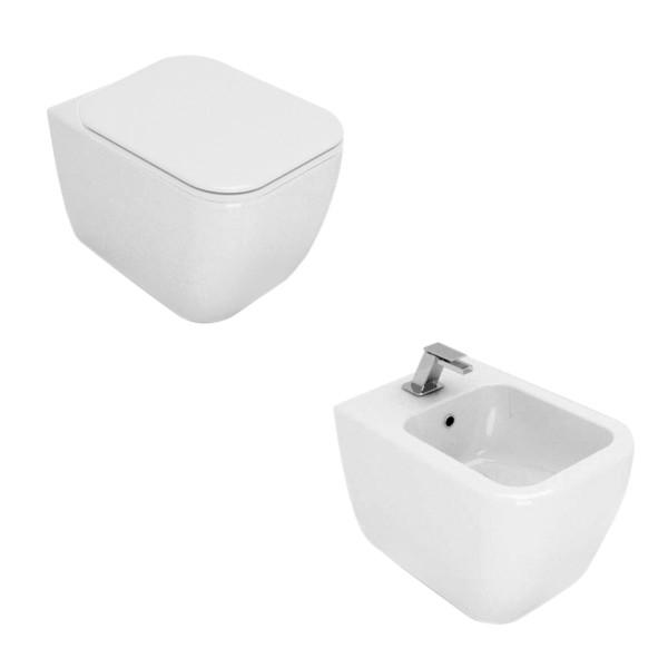 Sanitari sospesi opera sanitari area in ceramica bianchi con copriwc slim soft close