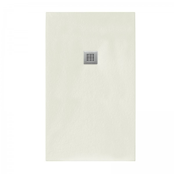 Piatto doccia beige 80x120 in mineral marmo sp 3cm con piletta inclusa