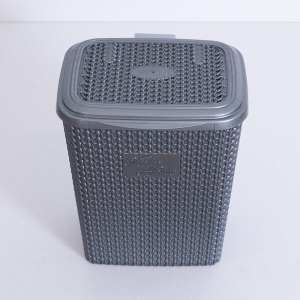 Pattumiera in plastica grigio 8 lt