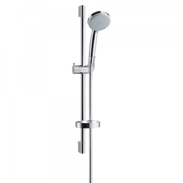 Saliscendi doccia da 65 cm con portasapone