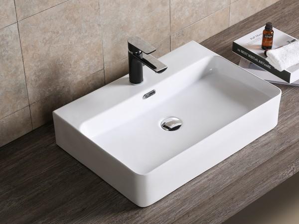Lavabo easy 60x42 cm in ceramica bianca