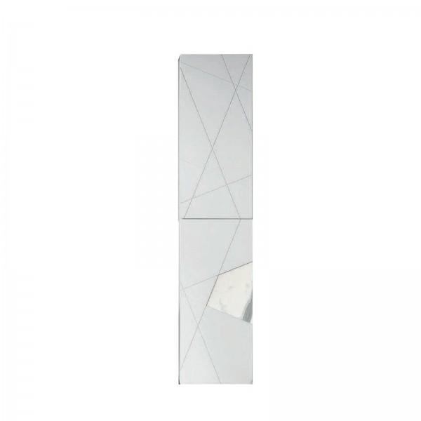 Colonna sospesa crizia 35x160 bicolor bianco opaco e marmo bianco