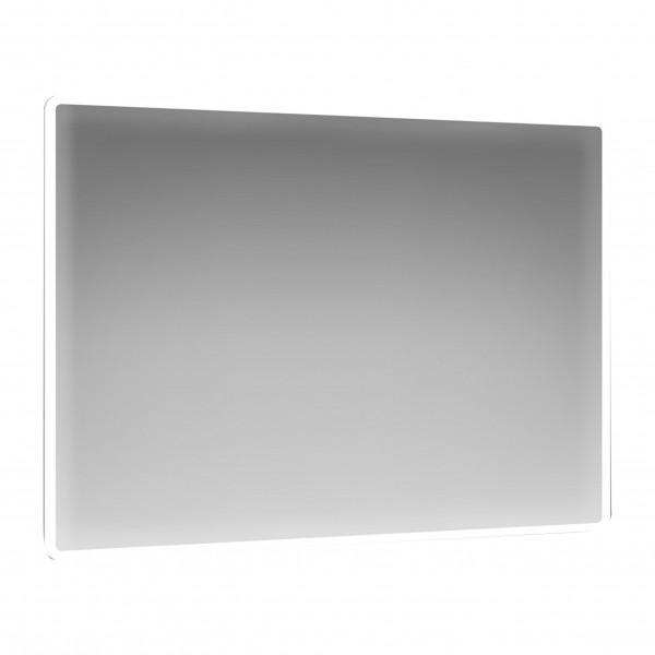 Specchio retroilluminato 100x70 cm reversibile con angoli arrotondati